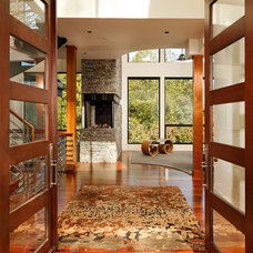 Modern Entry by Michelle Miller Interiors