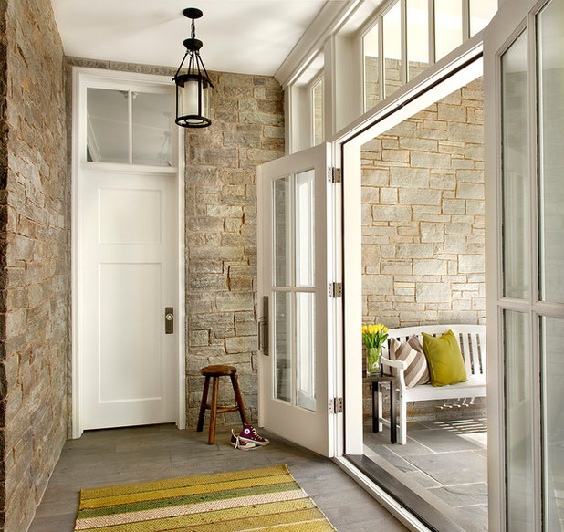 Farmhouse Entry by Charles Vincent George Architects, Inc.