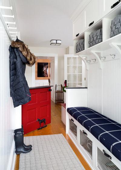 Farmhouse Entry by Haus Interior Design