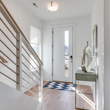 Modern Foyer in Charlotte's First Solar Community
