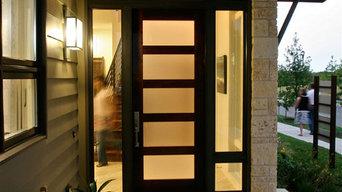 Modern Mahogany Entry Door