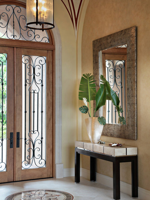 Foyer Door Decor : Mediterranean entryway design ideas renovations photos