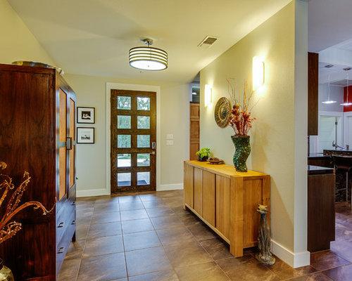 Foto e idee per corridoi corridoio moderno con pavimento con