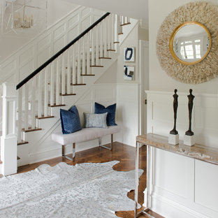 Example of a transitional entryway design in New York