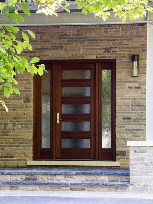 Contemporary single front door idea in Toronto & Aaw Doors | Houzz pezcame.com