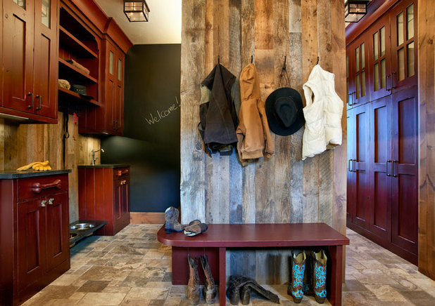 Rustic Entry by JJ Interiors