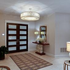 Modern Entry by Burdick Custom Homes