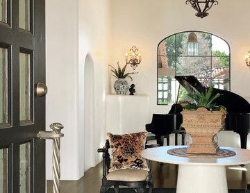 Modern Spanish Estate - Entry/Foyer www.hryanstudio.com