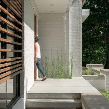 Modern White Brick Residence