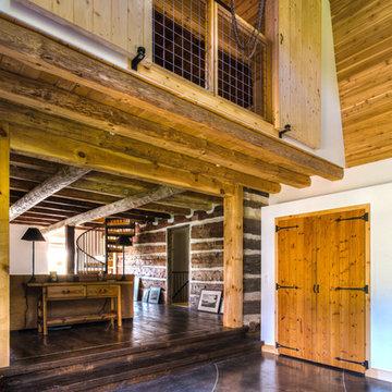 Modernized Log Home