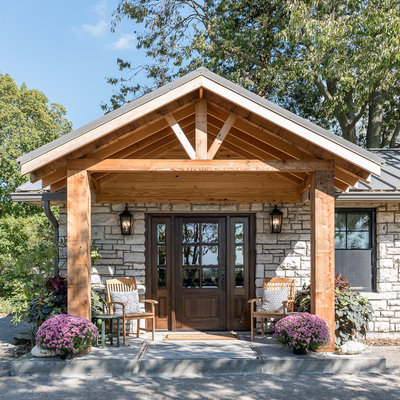 Farmhouse Entry by Anderson & Rodgers Construction