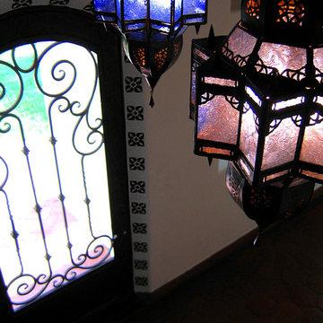 Moorish Lanterns in Spanish Style home