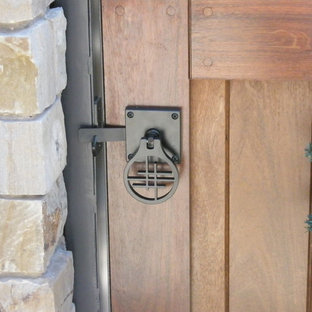 Mortise & Tenon Ipe Entry Gate with Asian Gate Hardware