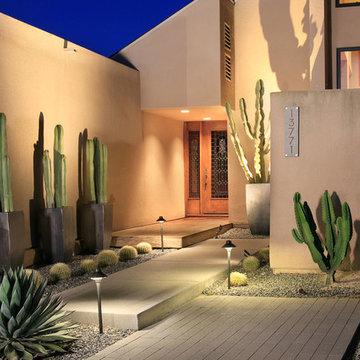 Mosaic Desertscape Style Front Walkway