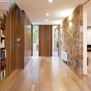 Large contemporary entryway in Melbourne.