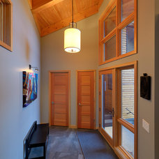 Contemporary Entry by Sticks and Stones Design Group Inc