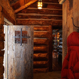 Example of a mountain style entryway design in Other