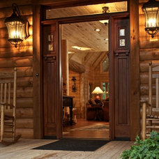 Rustic Entry by Satterwhite Log Homes