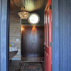 Eclectic Entry by Red Pepper Design & Cabinetry