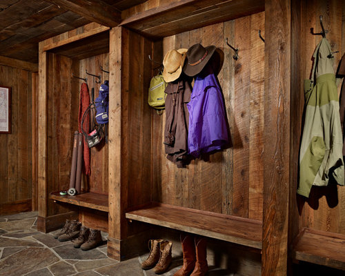 Rustic Mudroom Houzz