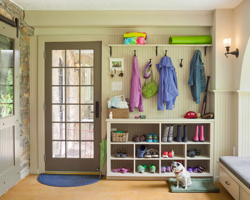 Inspiration For A Transitional Mudroom Remodel In Philadelphia
