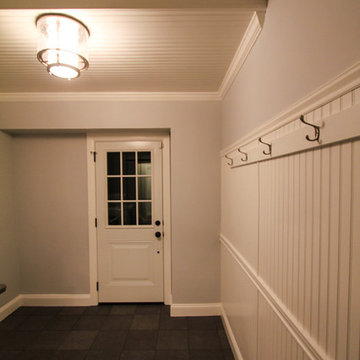 Mud/Laundry Room Remodel with White Wainscoting