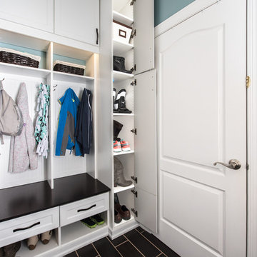 Mud Room and Laundry Center With a Place for Everything