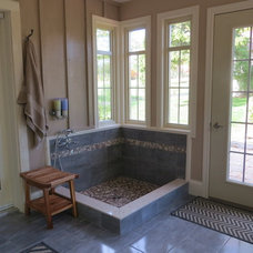 Traditional Entry Mudroom entry addition