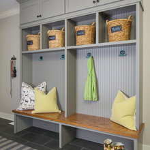 Lockers in laundry room