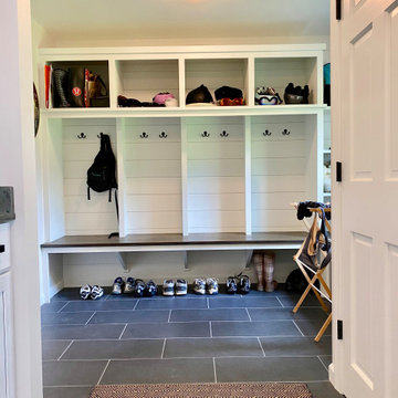 Mudroom with cubbies