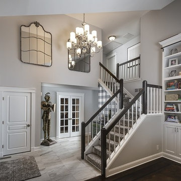 Mullica Hill, NJ: Transitional Kitchen & Living Space
