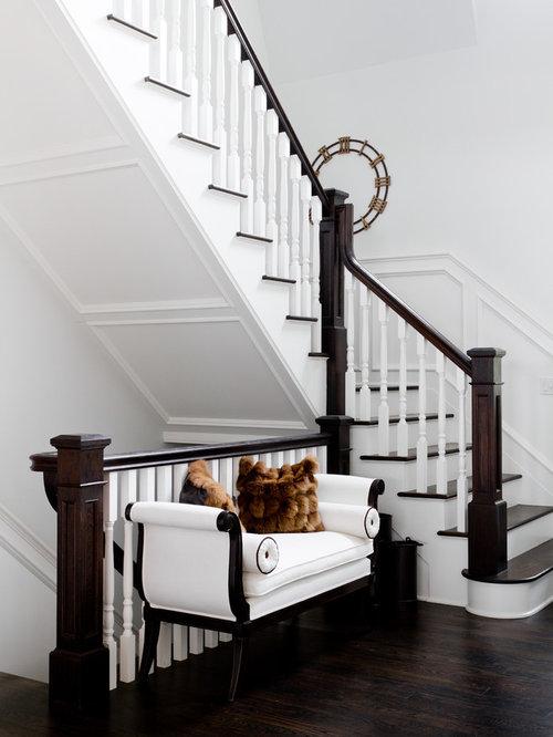 open basement stair houzz. Black Bedroom Furniture Sets. Home Design Ideas