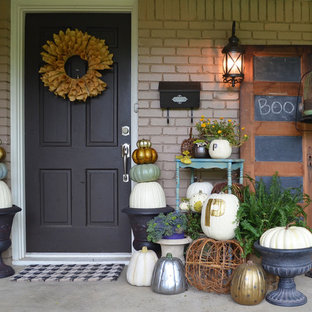 Inspiration for an eclectic single front door remodel in Dallas