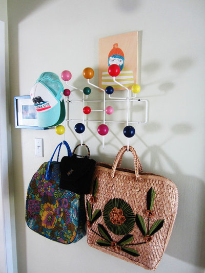 Eclectic Entry My Houzz: Thrifty Flourishes Give a '50s Home Retro Appeal