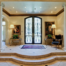 Mediterranean Entry by Rosewood Custom Builders