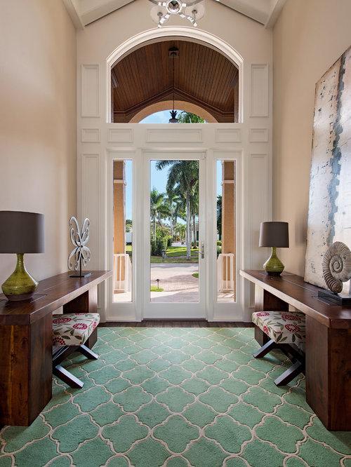 Houzz Foyer Rug : Teal carpet home design ideas renovations photos