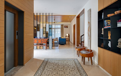 Bangalore Houzz: Earthy Elements Define This Contemporary House