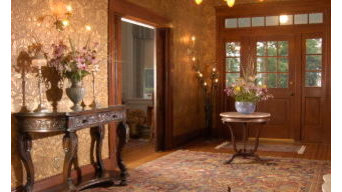 Neo Classical Foyer area executed in the traditional style.