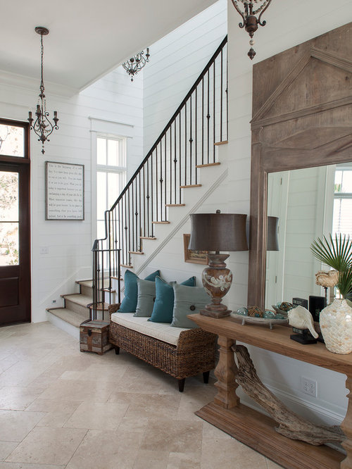 Coastal Foyer Home Design Ideas Pictures Remodel And Decor