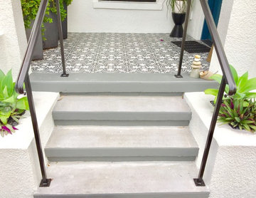 New Entry Stairs Added to Historic Bungalow Remodel
