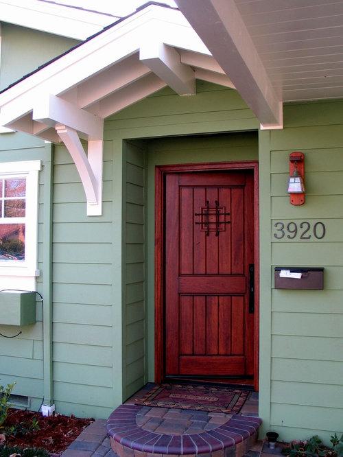 Craftsman entryway idea in San Francisco with a dark wood front door & Speakeasy Door | Houzz Pezcame.Com