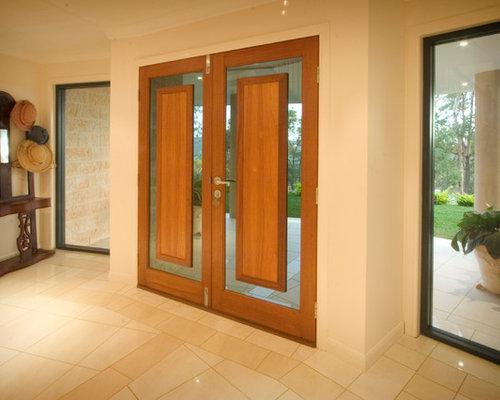 Fotos de entradas dise os de puertas principales for Puertas principales de madera modernas minimalistas