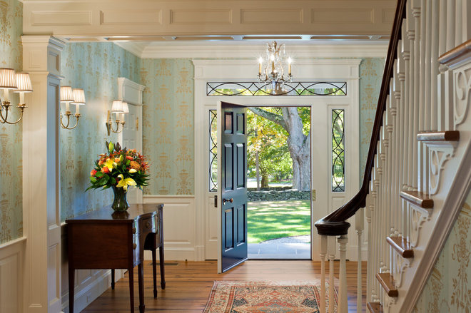 Traditional Entry by Peter Zimmerman Architects