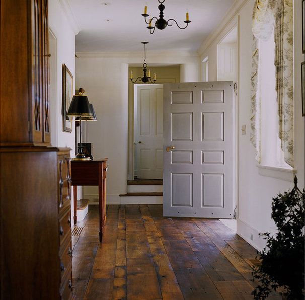 Farmhouse Entry by Peter Zimmerman Architects