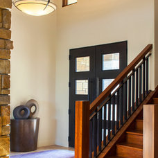 Transitional Entry by Dawn Hearn Interior Design