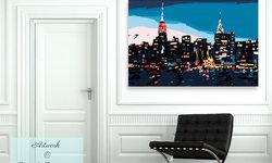 New York Skyline Art for the Foyer