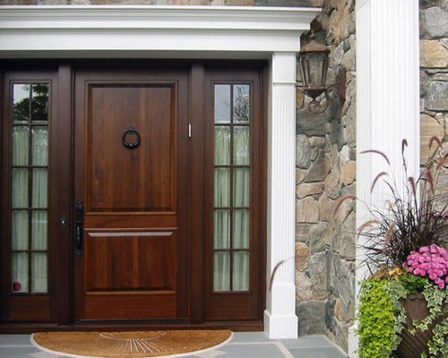 Mahogany doors home design ideas pictures remodel and decor for Traditional front doors