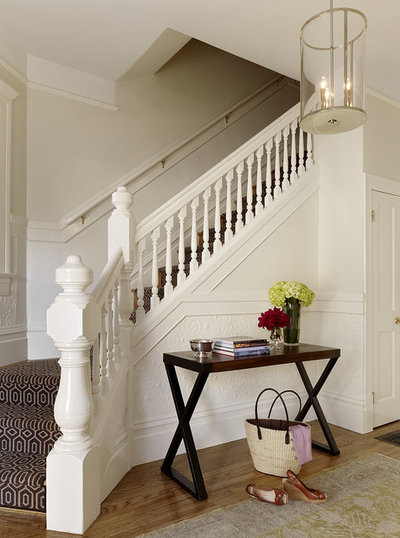 Transitional Entry by Jute Interior Design