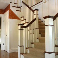 Transitional Entry by Liz Hause Interior Design