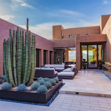 North Scottsdale Contemporary | Outdoor Living & Custom Steel Planters